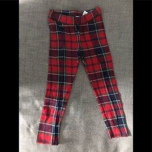 Janie and Jack girls plaid holiday pants cotton S4
